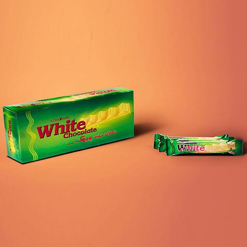 شکلات سفید پله ای