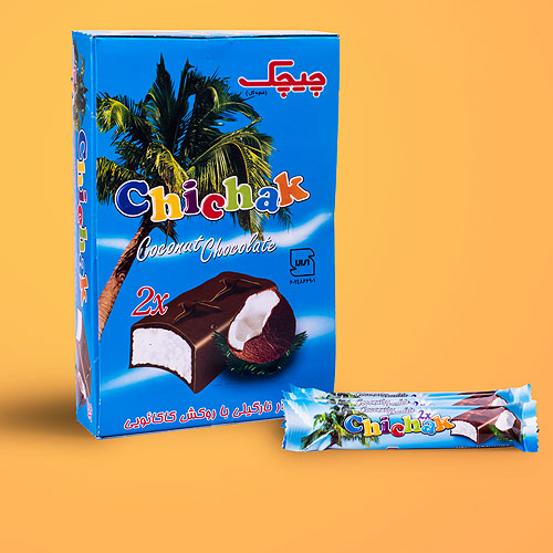 شکلات نارگیلی دو قلو